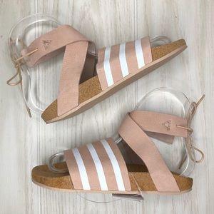Adidas Adilette Ankle Wrap Strap Sandals EG3855